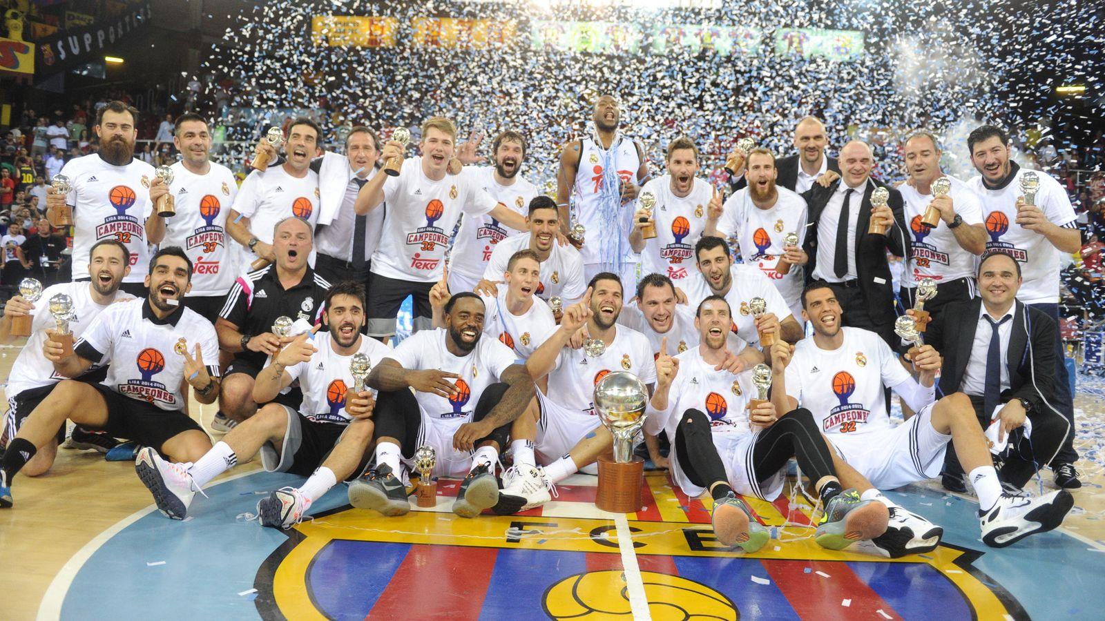 Foto: El Real Madrid, campeón de la Liga ACB (ACB Media).
