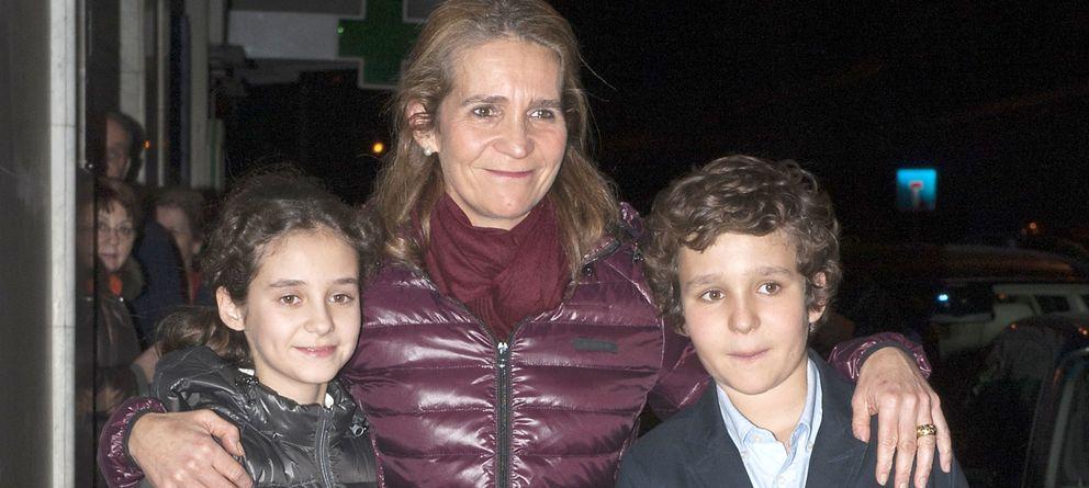 Foto: La infanta Elena junto a sus hijos Froilán y Victoria Federica (Gtres)
