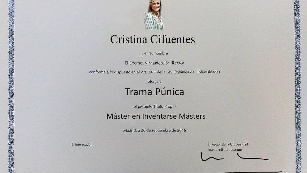 El caso del máster de Cristina Cifuentes desata la originalidad en las redes