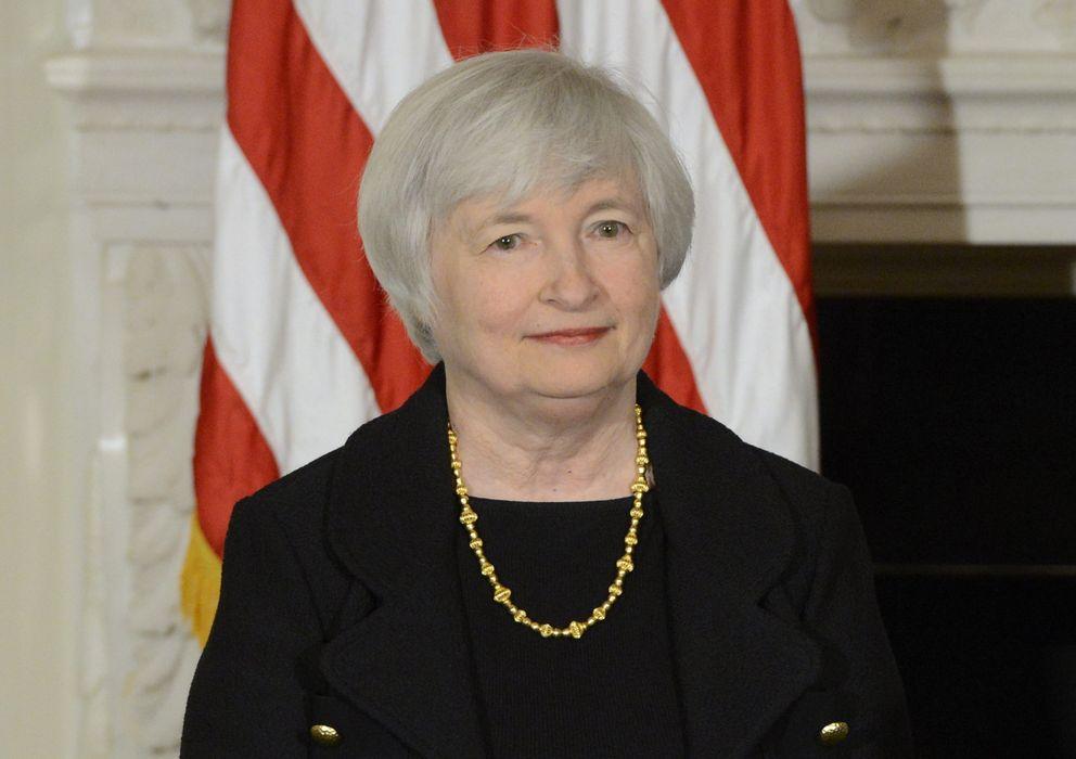 Foto: Yellen, durante el acto en el que se anunció su candidatura oficial a la presidencia de la Fed