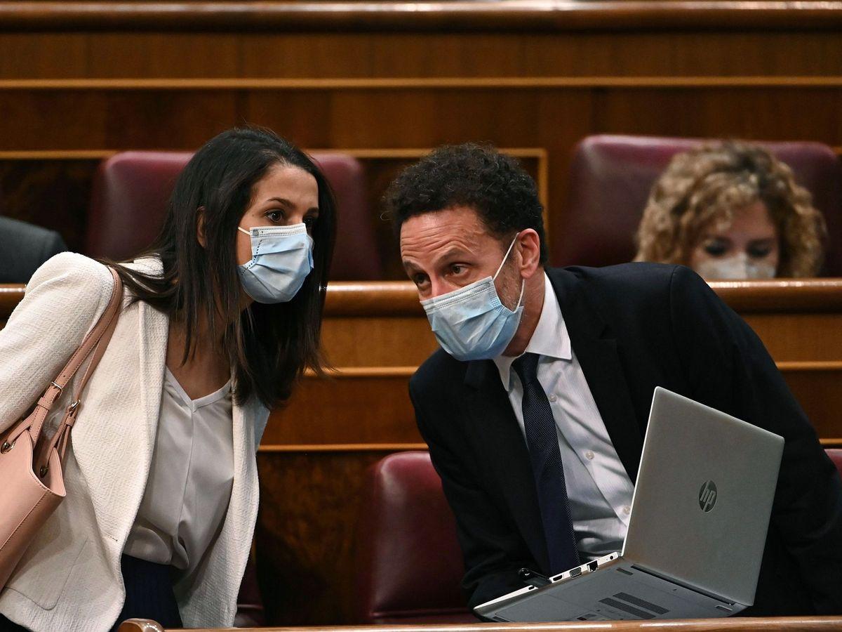 Foto: La líder de Cs, Inés Arrimadas (i), y el portavoz adjunto, Edmundo Bal. (EFE)