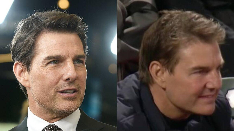 El rostro de Tom Cruise en 2019 y 2021. (Getty / Twitter)