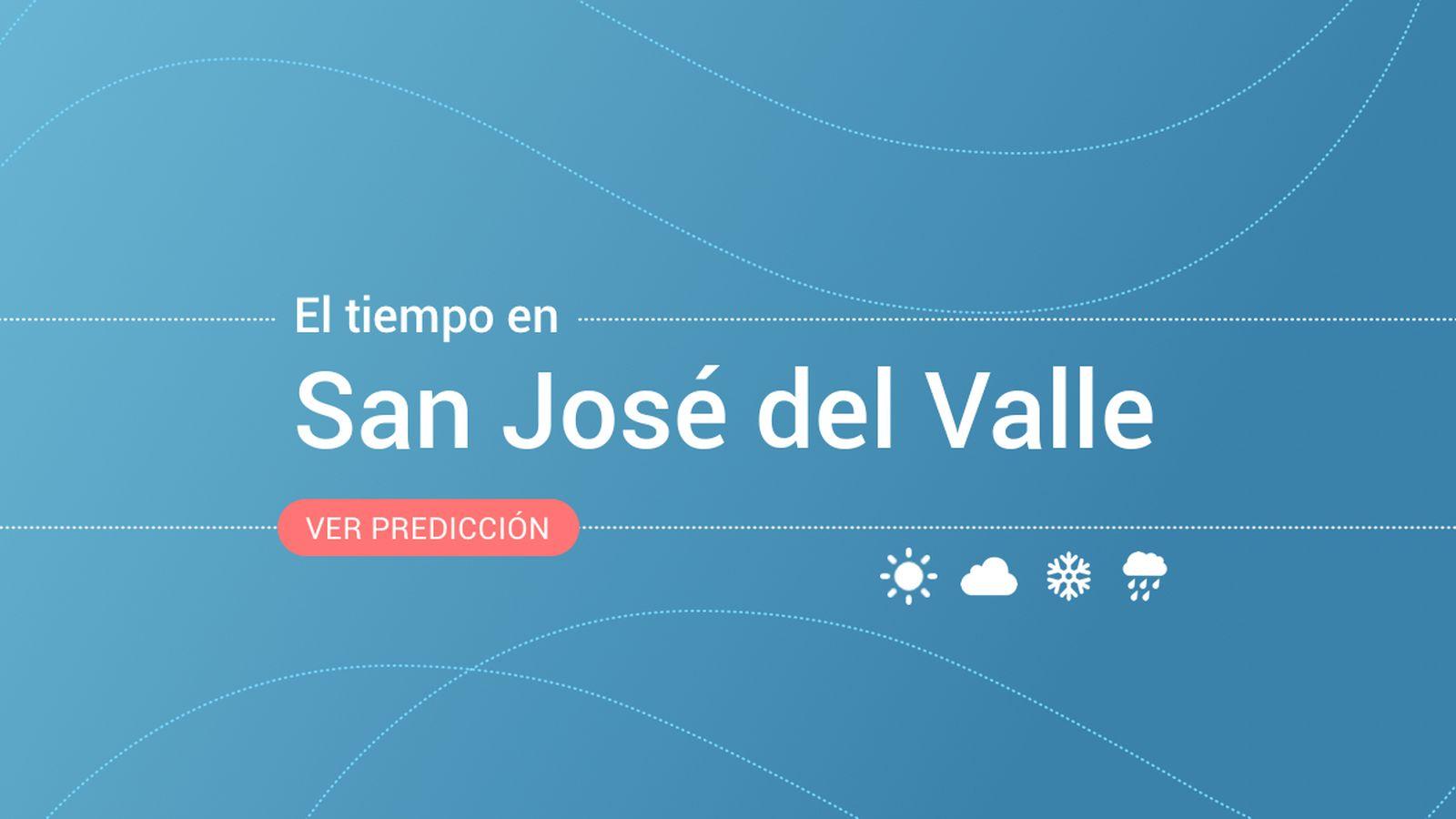 Foto: El tiempo en San José del Valle. (EC)