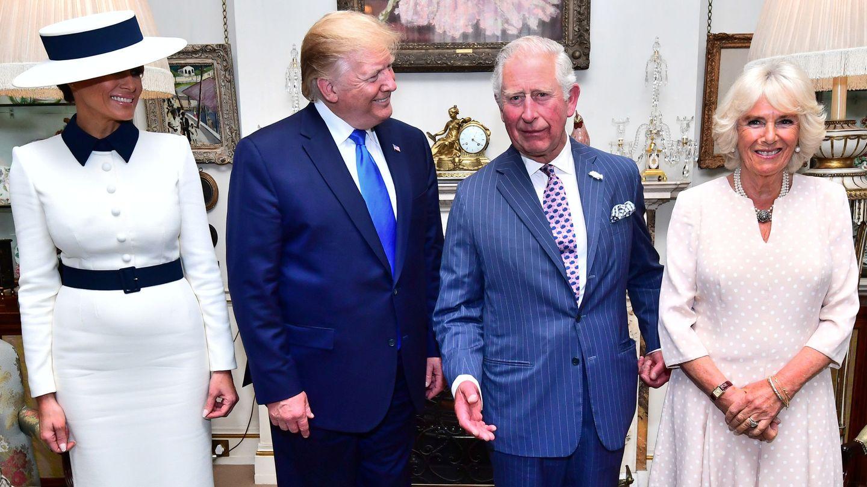 Las dos parejas en Clarence House. (Reuters)