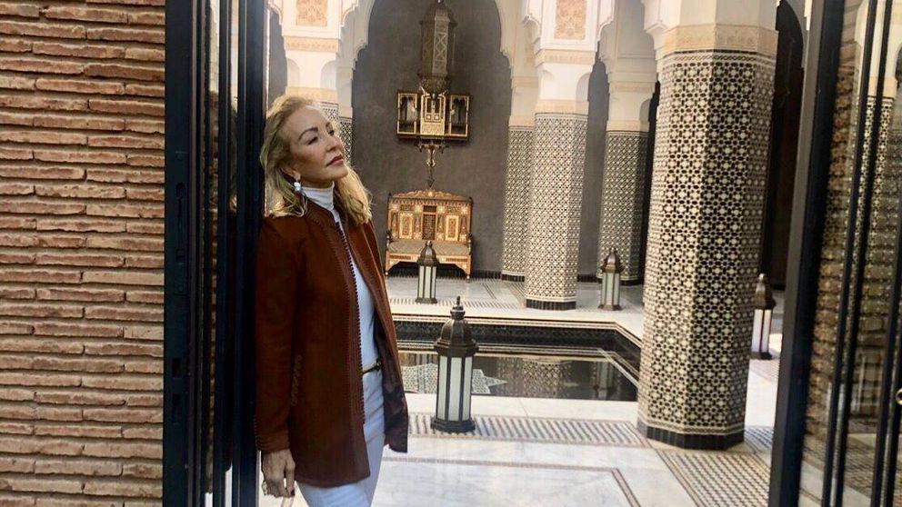 Carmen Lomana, días de vacaciones en Marrakech: al mal tiempo, buen bikini
