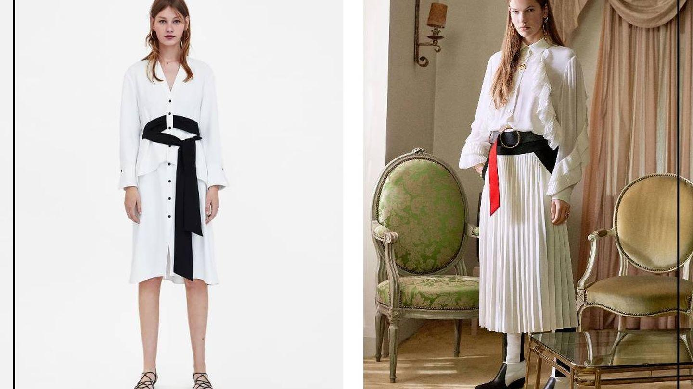 Vestido de Zara y conjunto de Givenchy.