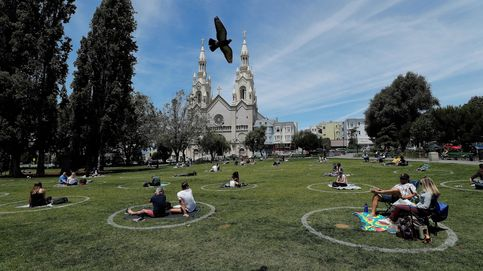 Círculos de distancia social en San Francisco