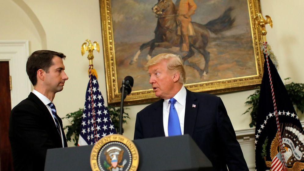 Foto: Donald Trump y el senador Tom Cotton en una imagen de archivo. (Reuters)