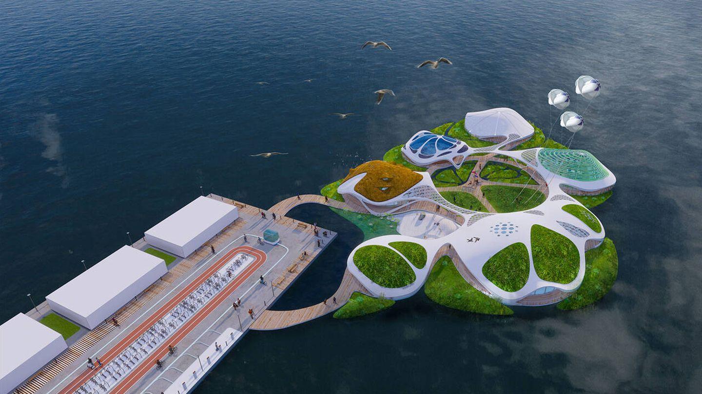 La estructura será 100% autosuficiente en la generación de energía y agua potable. (3deluxe)