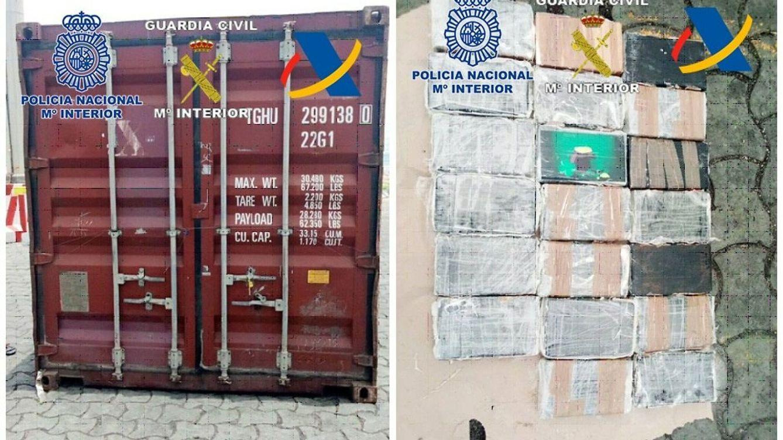 Encuentran 190 kilos de cocaína en África en dos contenedores procedentes de Canarias