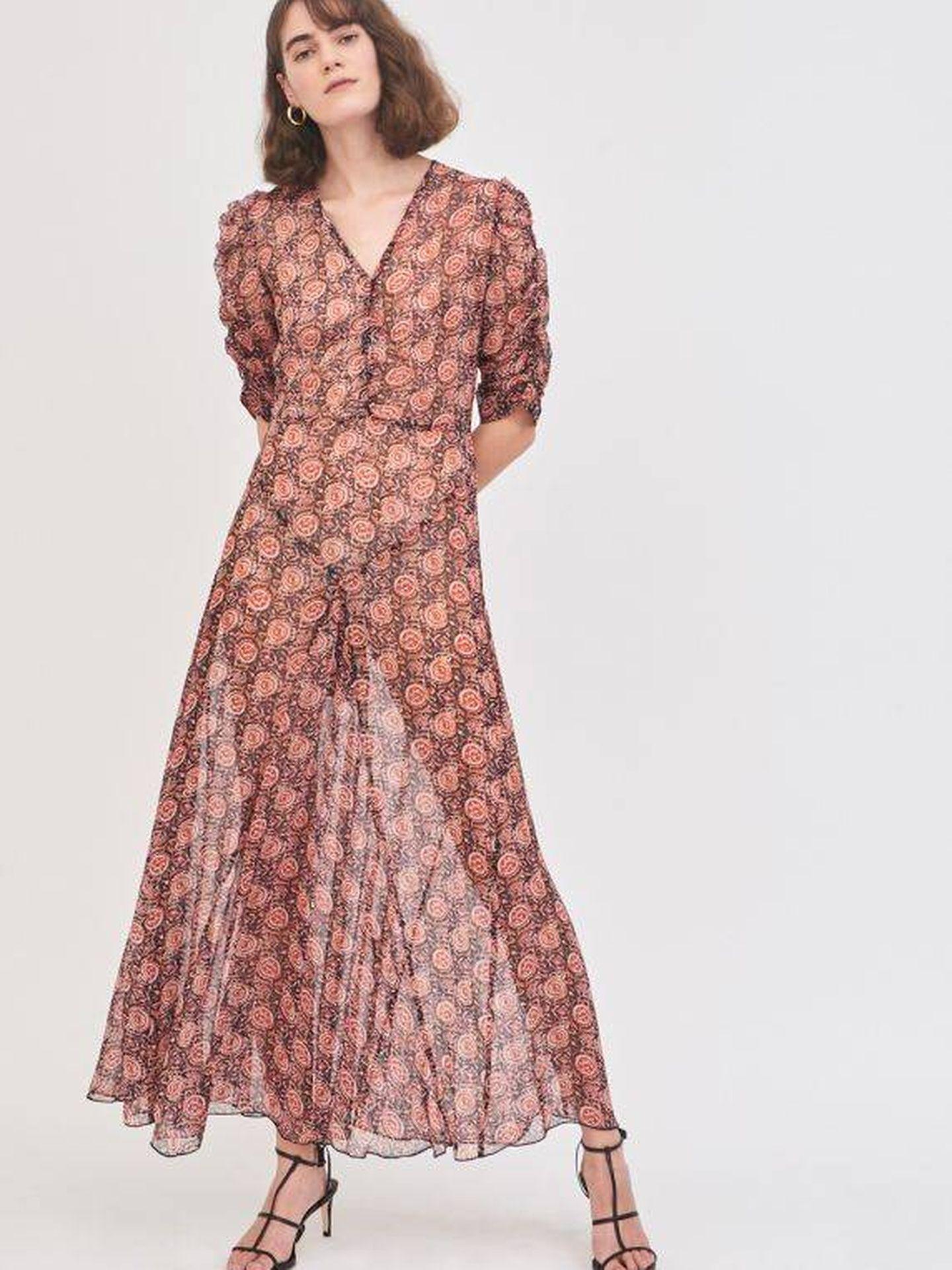 El vestido de Antik Batik que lleva Eugenia. (Cortesía)