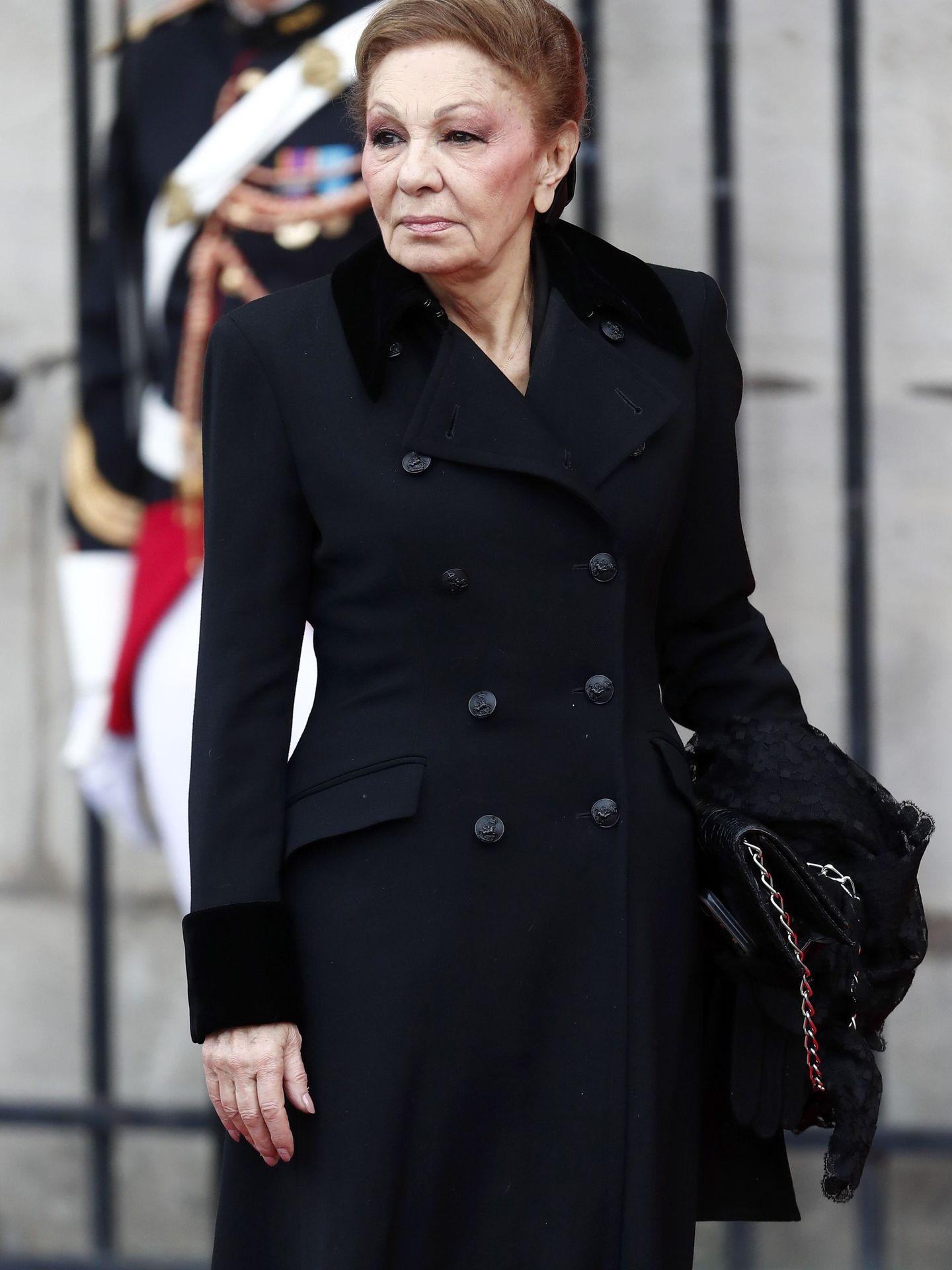 La viuda del sha, Farah Diba, en París. (EFE)