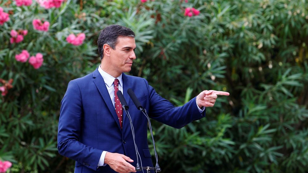 Foto: Pedro Sánchez, tras departir con el Rey en Mallorca este agosto. (EFE)