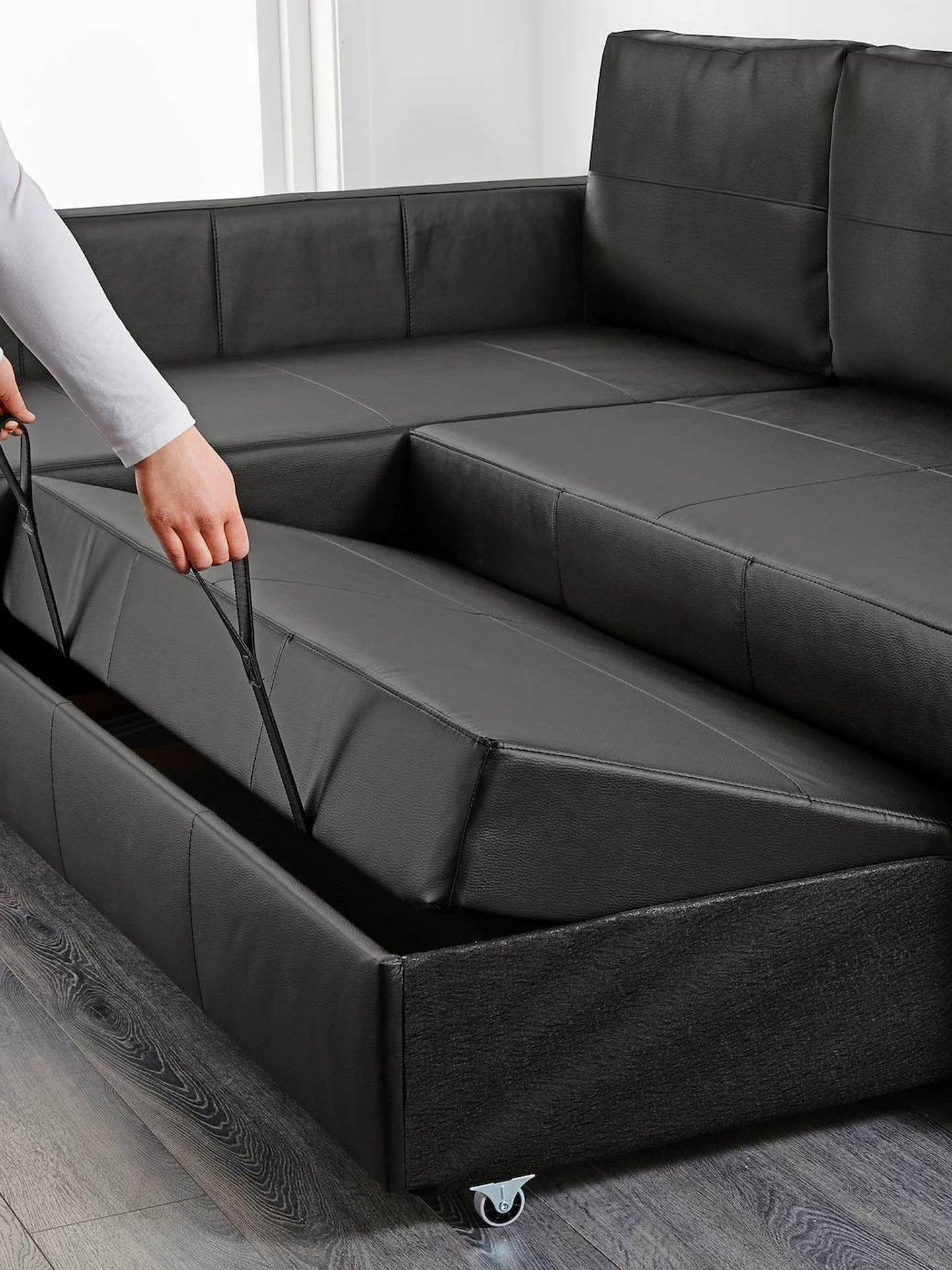 Con un sofá cama como este de Ikea, siempre tendrás una cama extra. (Cortesía)