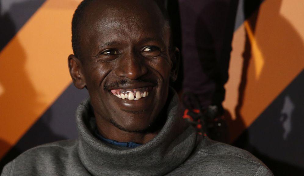 Foto: Ezekiel Kemboi en la rueda de prensa de este miércoles (EFE/Zipi)