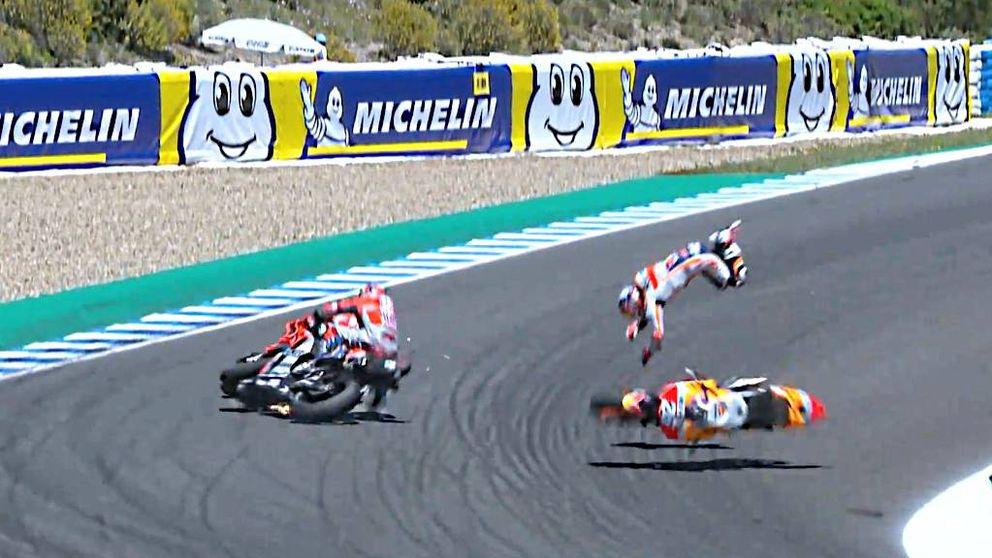 Pedrosa, tras su accidente, pone en evidencia a los comisarios de MotoGP