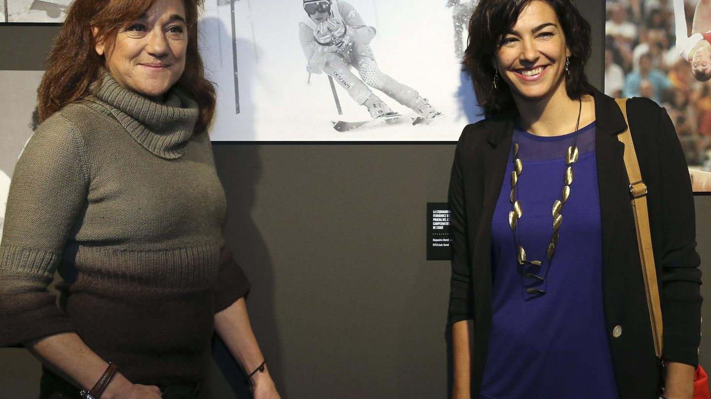 Blanca, junto a María Jose Rienda, presidenta del CSD y amiga personal, hace unos meses. (EFE)