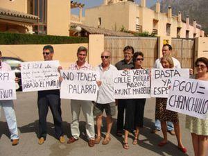 Primeras protestas en Marbella por el nuevo PGOU del Ayuntamiento