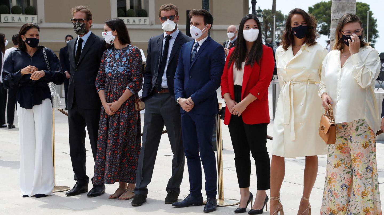 Parte de la familia Grimaldi reunida en Mónaco. (Reuters)