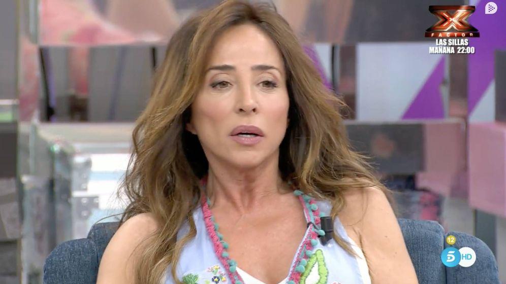 Foto: María Patiño en 'Sálvame' (Telecinco)