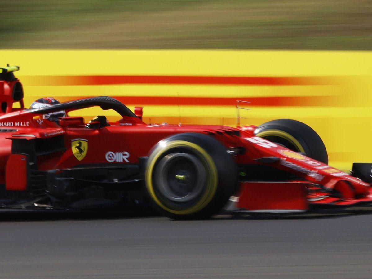 Foto: Sainz hizo podio en el GP de Hungría.