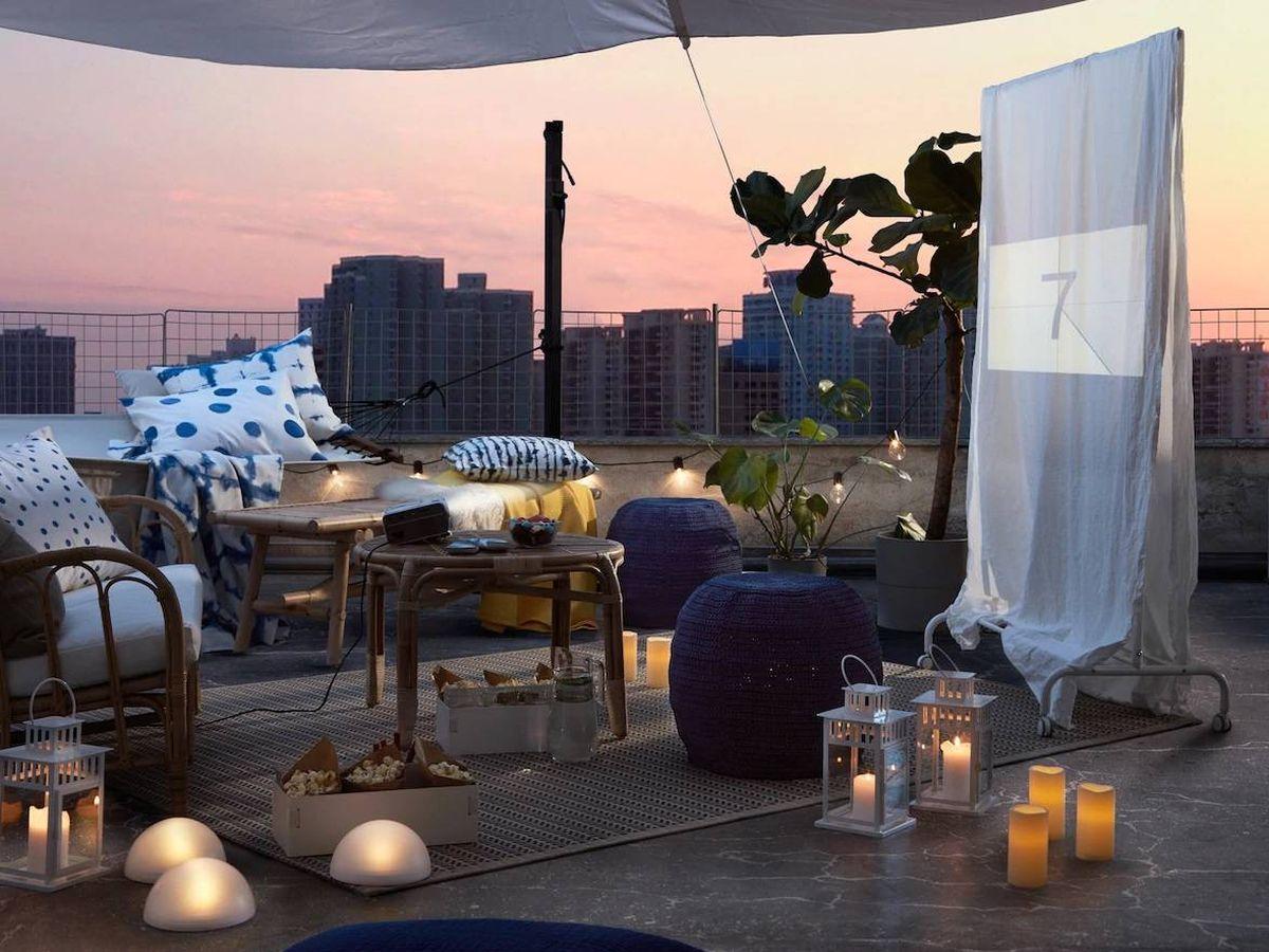 Foto: Ikea convierte tu jardín en un cine al aire libre. (Cortesía)