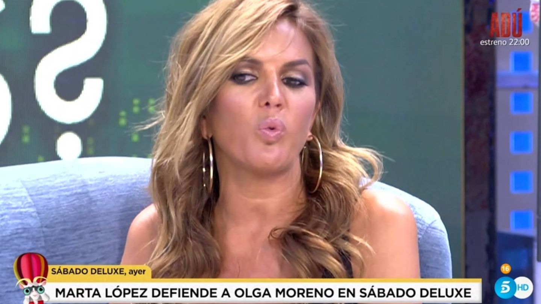 Marta López, en 'Sábado Deluxe'. (Telecinco).