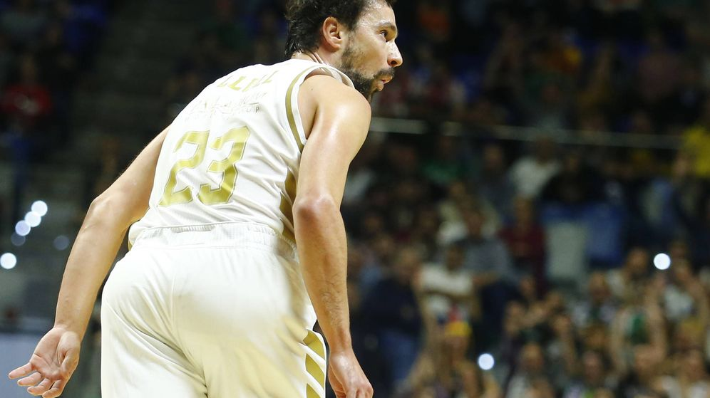 Foto: Sergio Llull fue el máximo anotador del Real Madrid ante el RETAbet Bilbao Basket en cuartos de final de Copa del Rey. (ACB Photo)