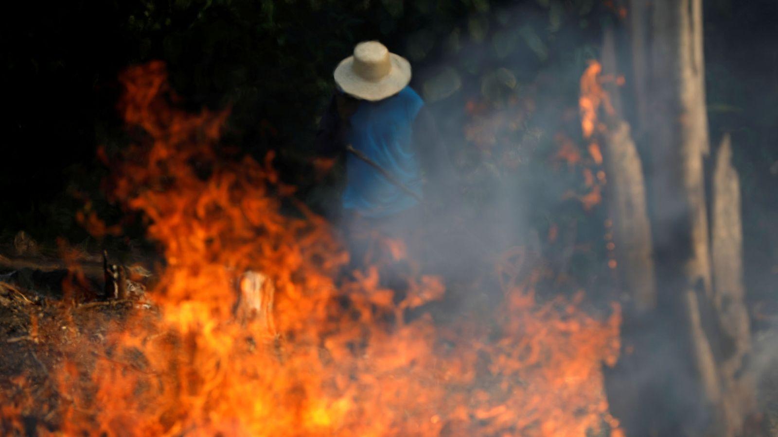 Foto: Arde el Amazonas. (Reuters)