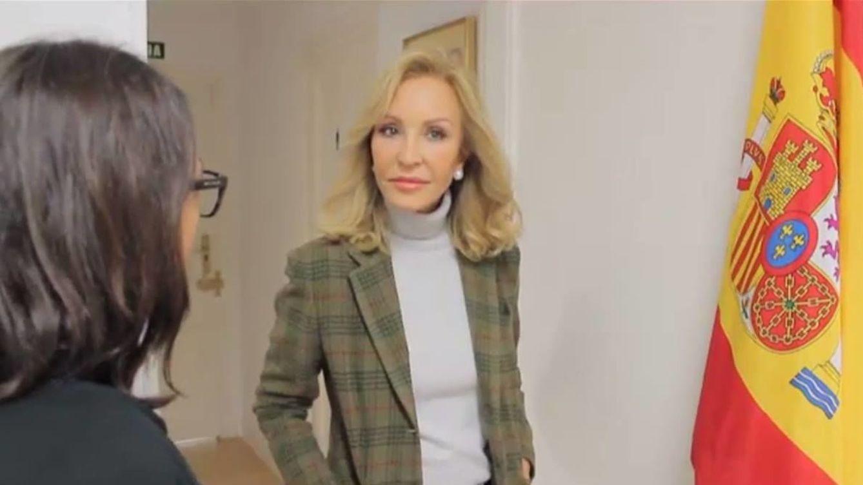 Foto: Carmen Lomana en un momento de la entrevista para Vanitatis