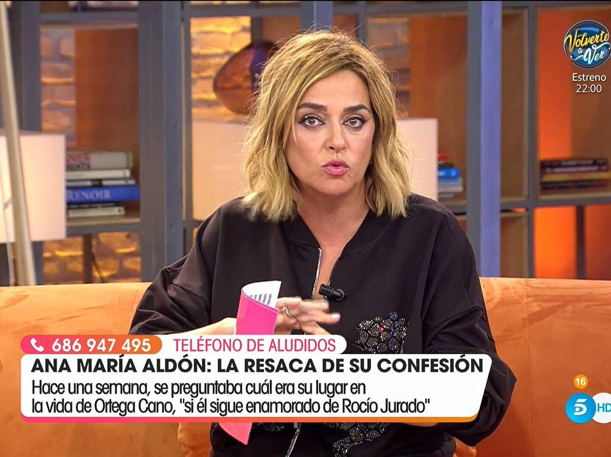 Foto: Toñi Moreno, en 'Viva la vida'. (Mediaset)
