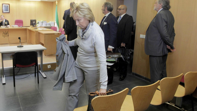 Liliane Dahlmann, la viuda de la 'duquesa roja', en un momento del juicio. (EFE)