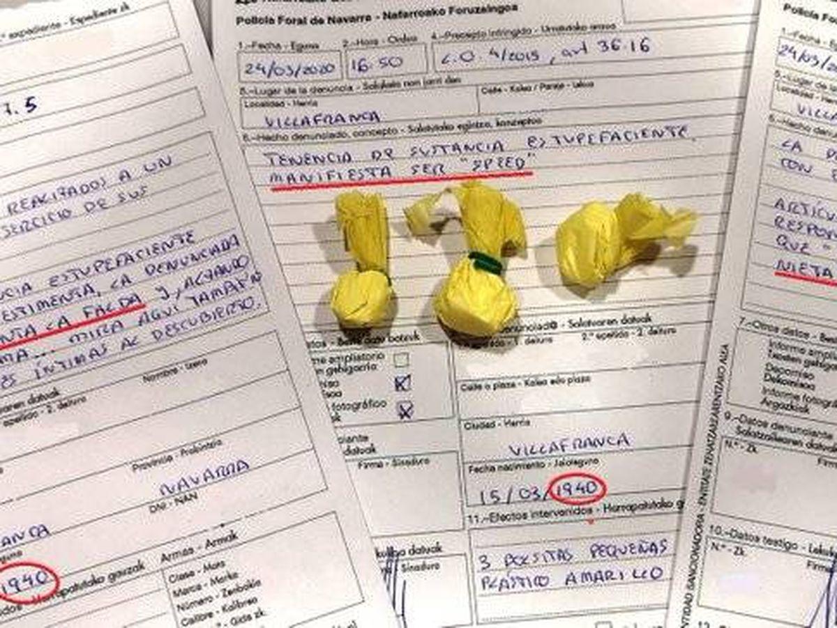 Foto: La denuncia interpuesta por los agentes. Foto: Policía Foral