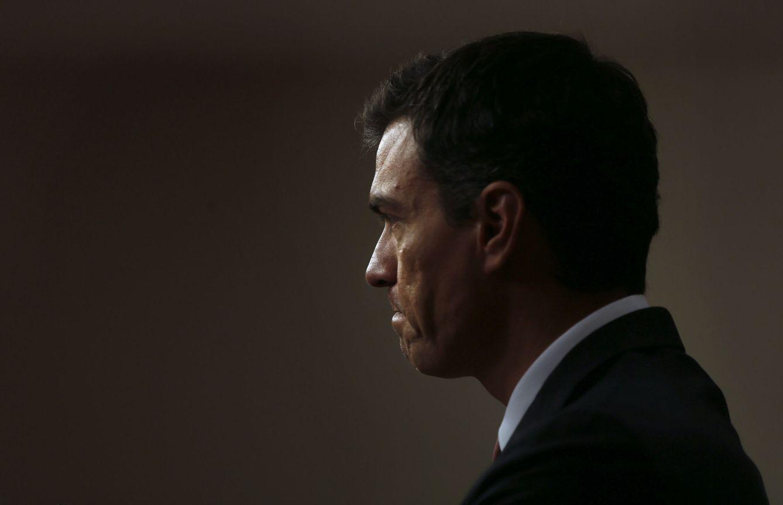 Foto: Pedro Sánchez, durante su rueda de prensa en el Congreso posterior a su reunión con Mariano Rajoy, este 13 de julio. (EFE)