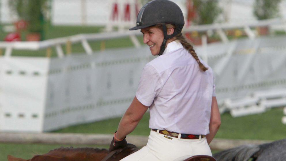 La infanta Elena vuelve a competir a lomos de su caballo Qant
