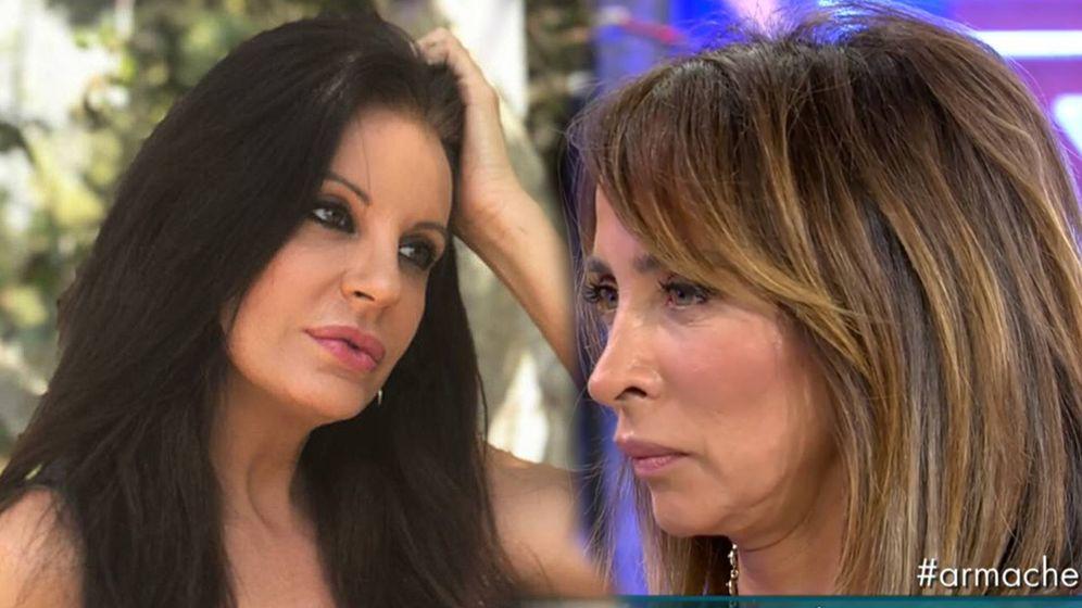 Foto: Sonia Monroy (Instagram) y María Patiño, en 'Sábado Deluxe'. (Telecinco)