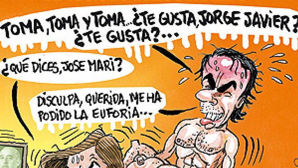 Nueva polémica de 'El Jueves': la revista satírica muestra al matrimonio Aznar practicando sexo