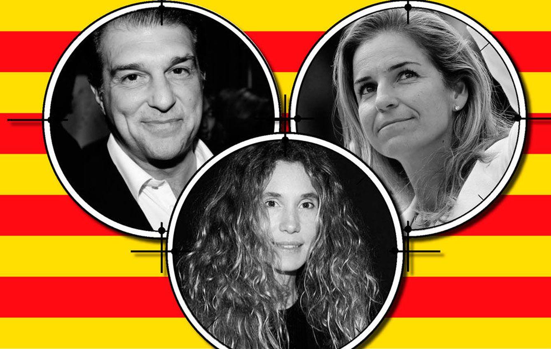 Foto: Laporta, Arancha Sánchez Vicario y Blanca Cuesta en un fotomontaje realizado en Vanitatis