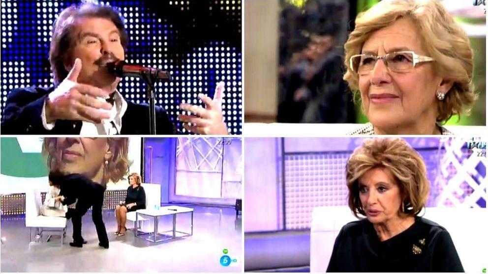 Bigote Arrocet le dedica una canción a Manuela Carmena (y Mª Teresa Campos rompe a llorar)