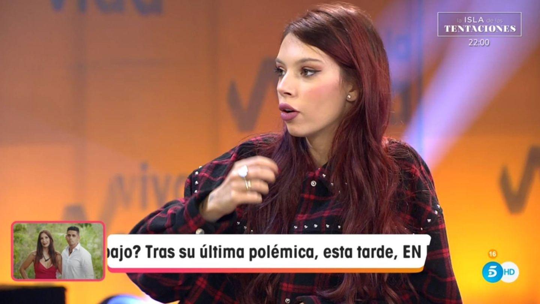 Alejandra Rubio desmarcándose de su familia. (Telecinco).