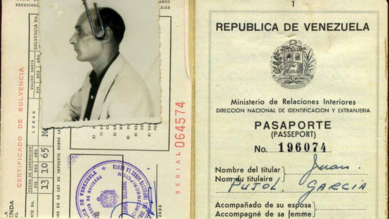 Pasaporte venezolano de Juan Pujol.