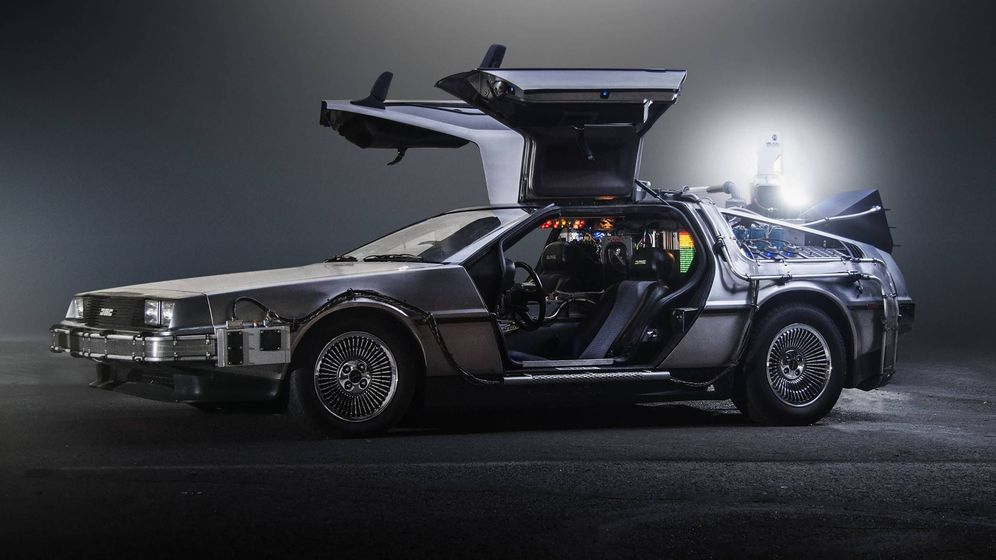 Foto: Un DeLorean, tuneado para viajar al futuro.