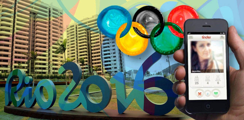 Foto: Tinder en los Juegos de Río 2016 (Fotomontaje de Vanitatis)