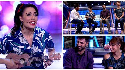 Pilar Rubio canta en directo ante Michelle Jenner, Hugo Silva y Motos