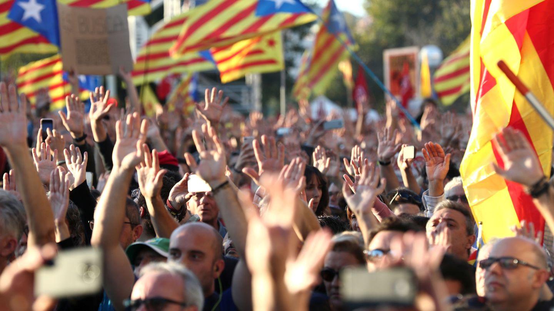 Imagen de la manifestación independentista. (Reuters)