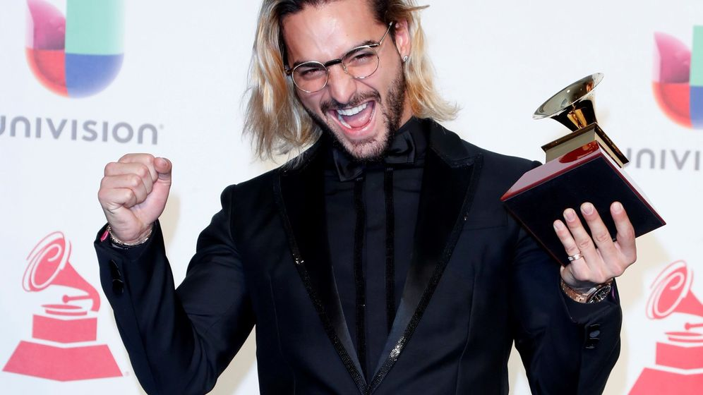 Foto: Maluma en los Grammy de 2018. (EFE)