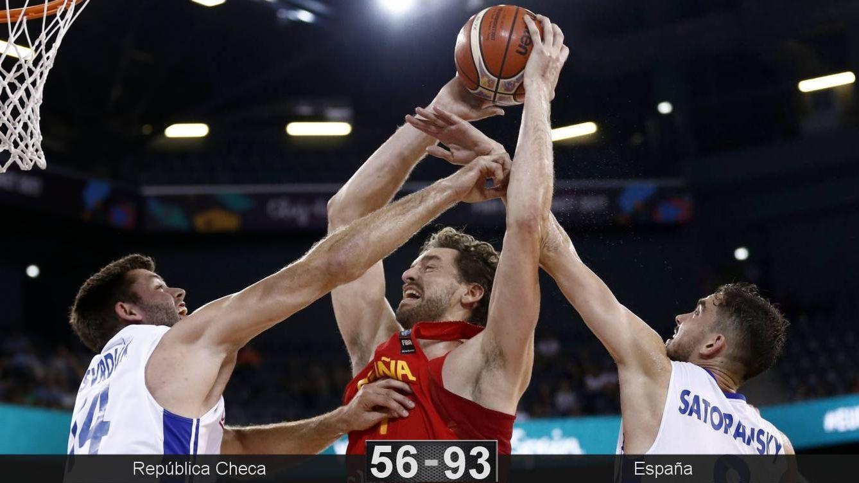 República Checa tampoco es rival para una España que se pasea en el EuroBasket