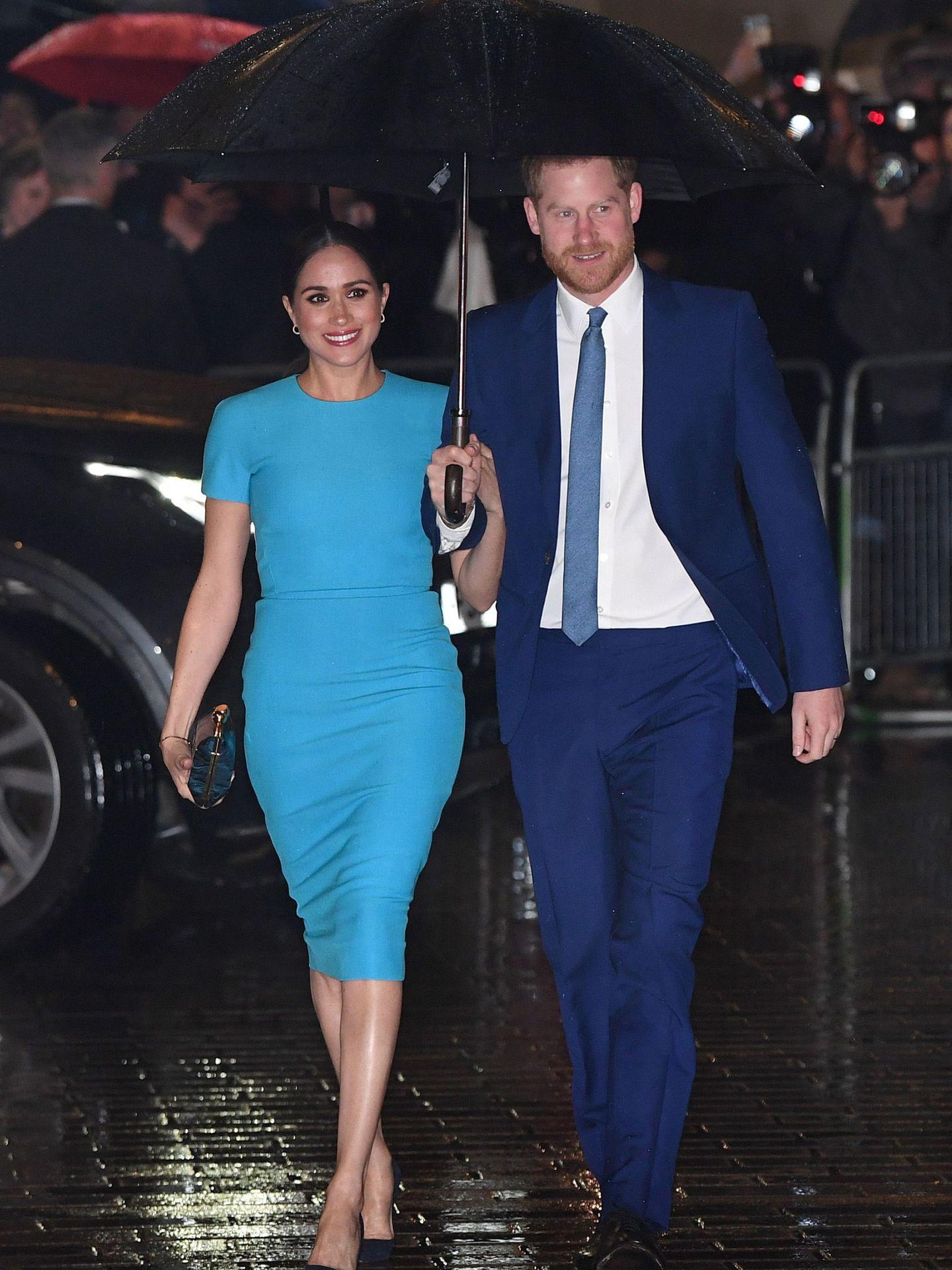 Meghan y Harry, en su reaparición en Londres. (EFE)