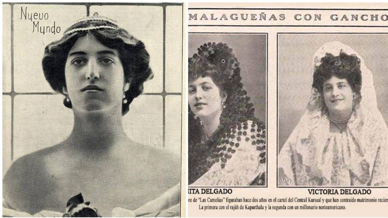 Dos portadas de la revista 'Nuevo Mundo' sobre Anita Delgado y sobre su hermana Victoria. (Archivo de la revista ilustrada 'Nuevo Mundo')