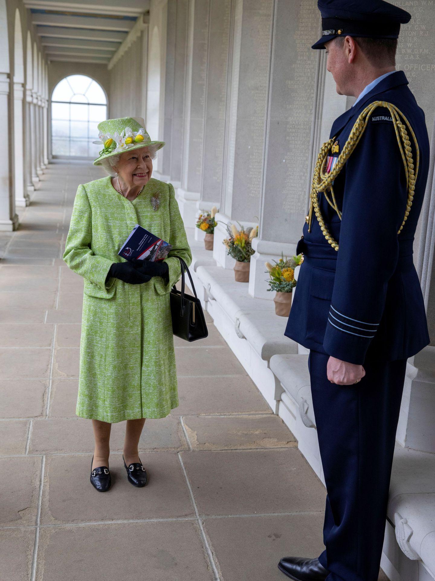 La reina Isabel, este miércoles. (Reuters)